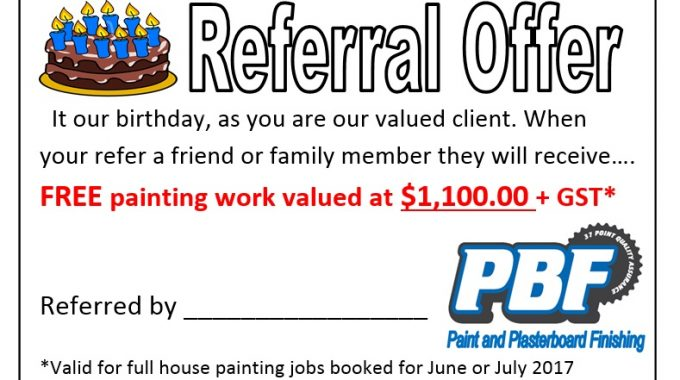 Referal Offer