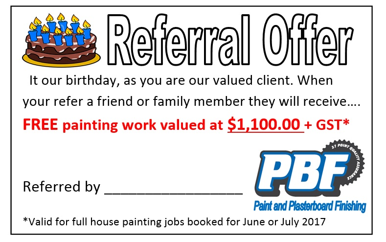Fantastic Referral Offer To Clients Or Friends Of Clients..